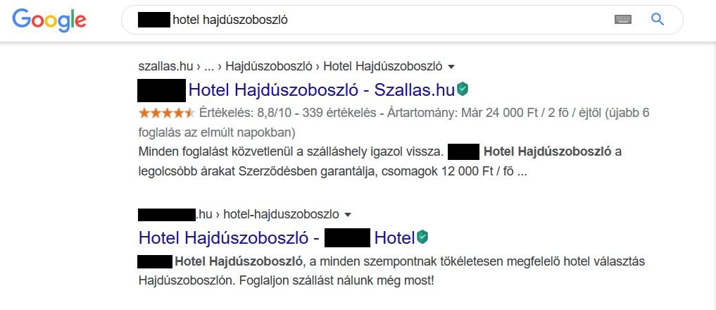Hotel Hajdúszoboszló szállásportál SEO